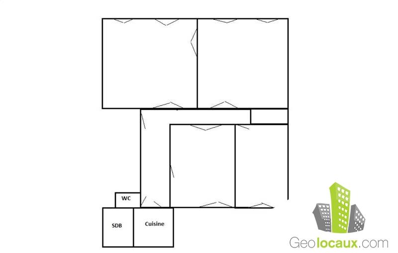 Location bureaux 99 m² non divisibles